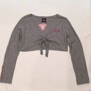 Harley-Davidson Woman Large Front Tie Long Sleeve